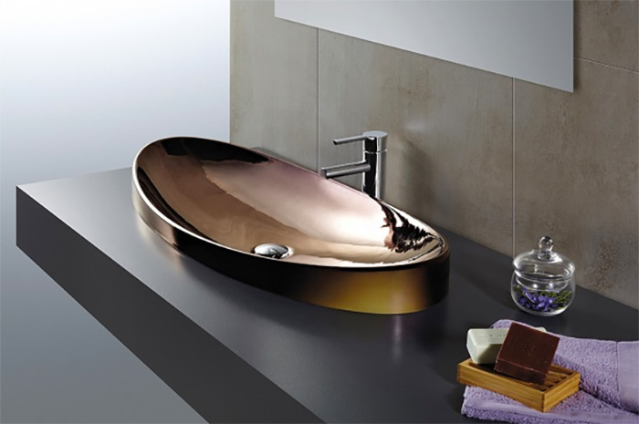 lavabos metálicos